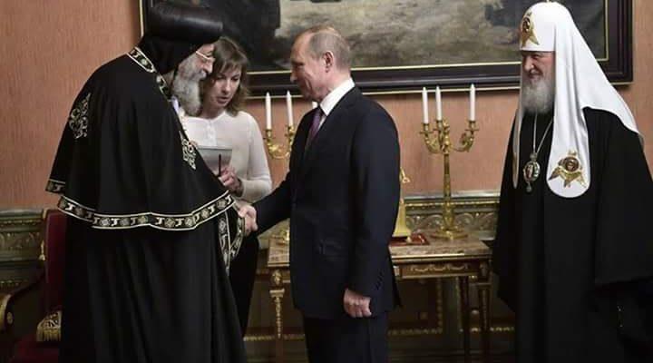 President Putin receives Pope Tawadros 3