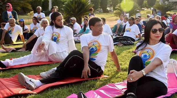 International Day of Yoga in Egypt