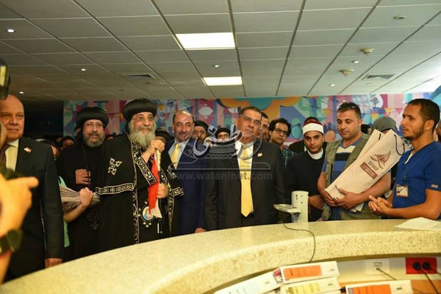 Pope Tawadros visits children's cancer hospital 57357