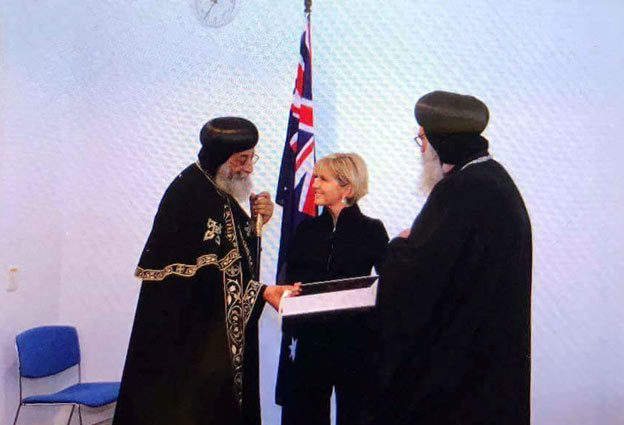 In Canberra: Pope Tawadros meets politicians, blesses Habib Girgis building