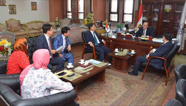 Beni Sweif seeks cooperation with South Korea