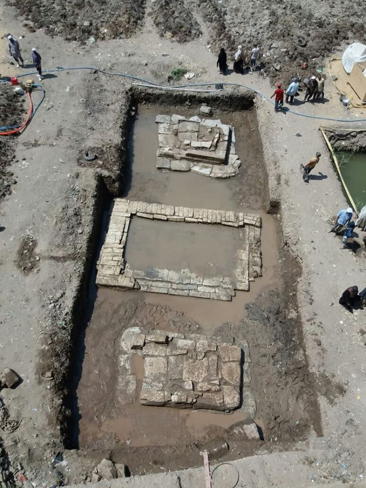 Lower part of Psamtik I colossus unearthed