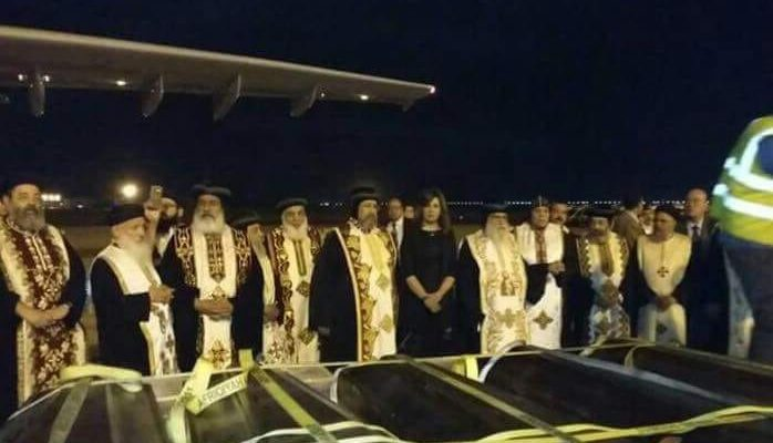 Pope Tawadros welcomes home bodies of Copts beheaded by Daesh in Libya