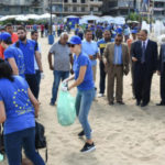 Beach clean-up in Alexandria