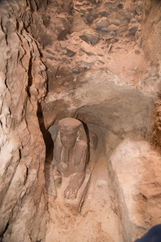 Greek era sphinx uncovered in Kom-Ombo temple