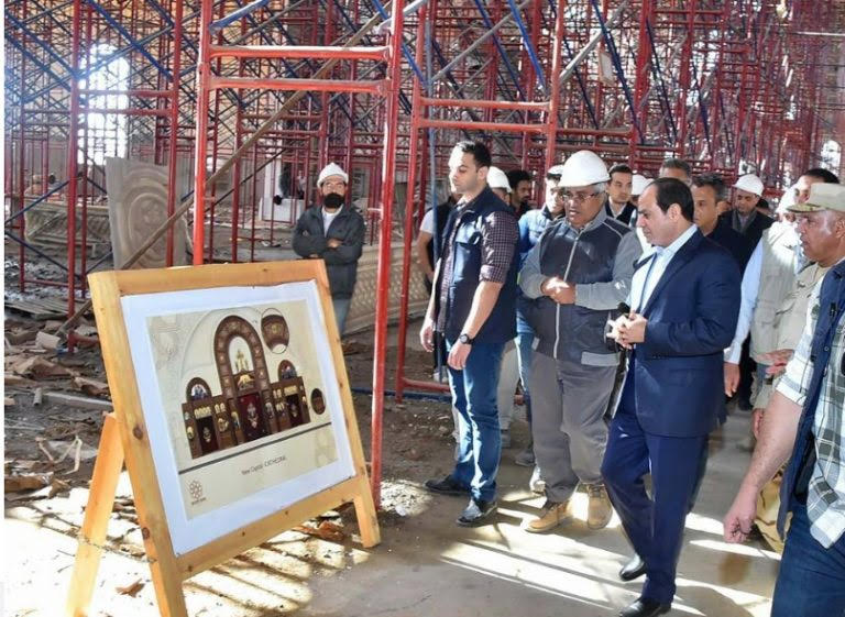 President Sisi visits Cathedral of Nativity of Christ
