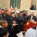 Coptic villagers hold funeral in street while church remains closed