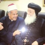 Anba Hedra, Metropolitan of Aswan, receives Egypt's Speaker of parliament