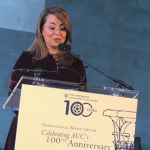 Social Solidarity Minister in AUC centenary celebration at New York's MET