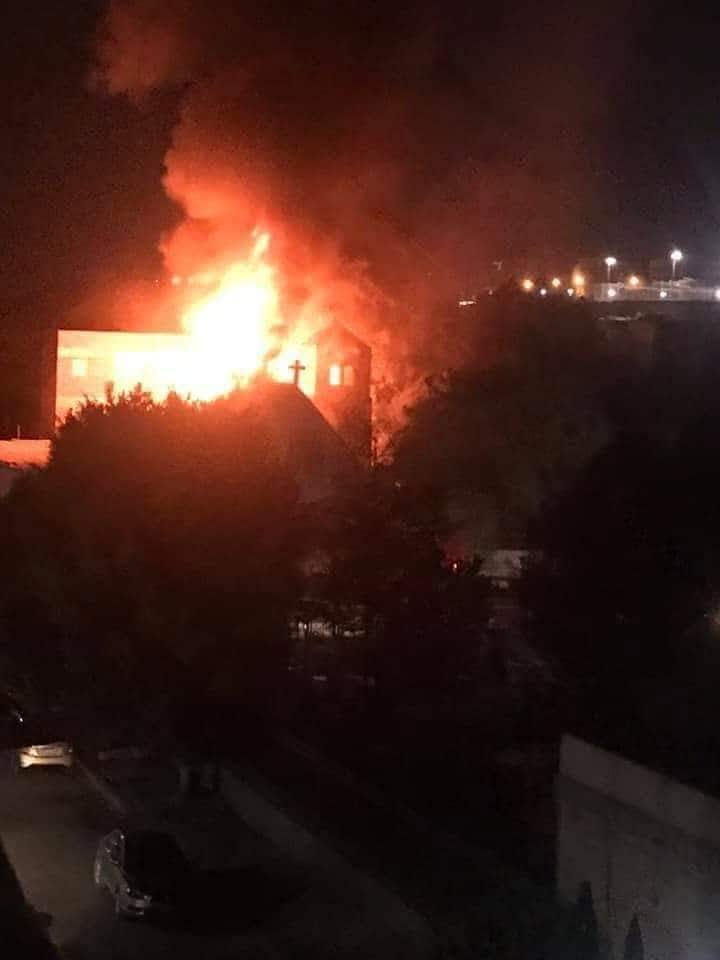 Fire at church in Helwan claims no lives