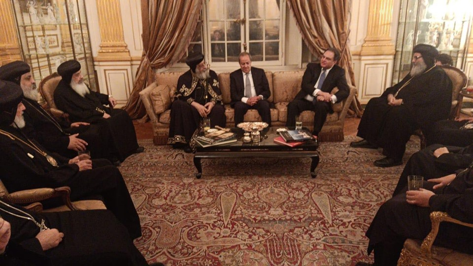 Pope Tawadros on first pastoral visit to France