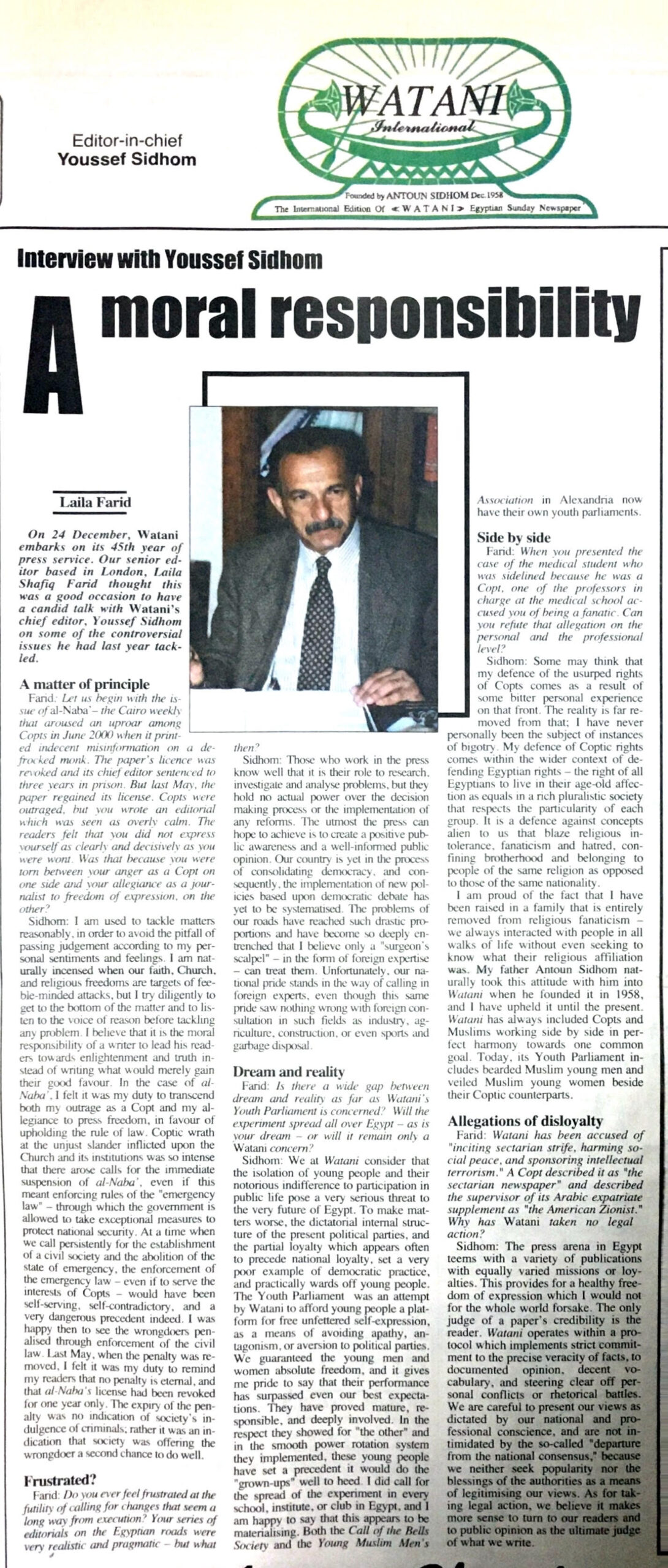 Watani International 2001 and 2002: History in real time